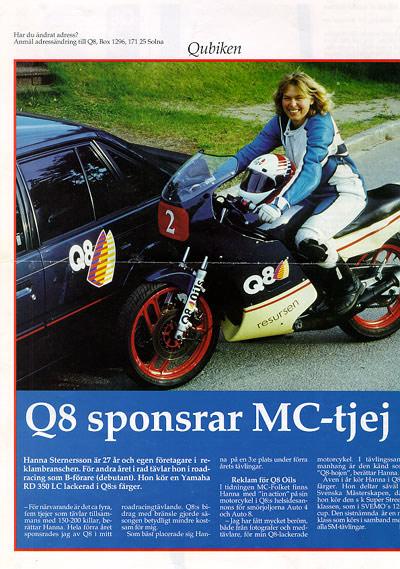 Q8 Sponsor advertisement.